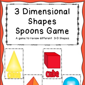 3 Dimensional Shapes Spoons game