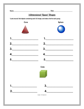 3-Dimensional Shapes in the Environment