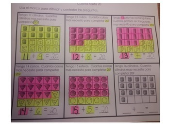 3 Dimensional Shapes with composing of numbers 10-20