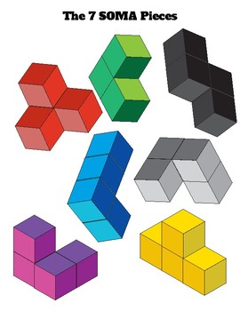 3-Dimensional Spatial Problem Solving Puzzles: Basic Soma Cube Challenges