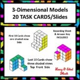 3-Dimensional 3-D View Task Cards/Slides