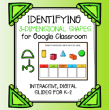 3-Dimesional Shapes for Google Classroom | Digital Slides