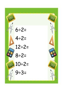 3 Division Worksheets