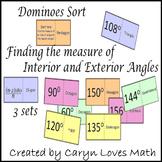Exterior-Interior Angles of Polygons ~ 3 Dominoe Like Matching Sort