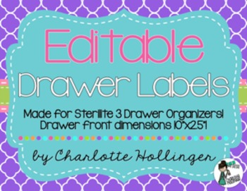 3 Drawer Bin Labels EDITABLE