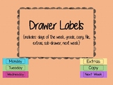 3 Drawer Labels