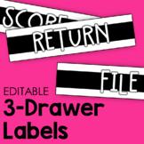 3-Drawer Labels