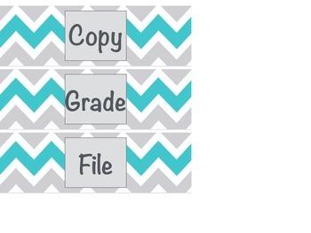 3 Drawer Organizer Labels