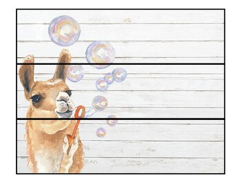 3 Drawer Organizer Labels - Llama Themed