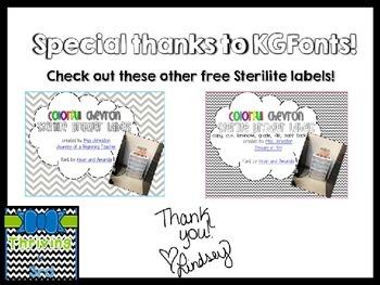 3 Drawer Sterilite Labels