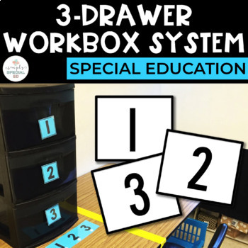 3 Drawer Workbox System FREEBIE for students with Autism