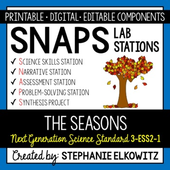 3-ESS2-1 Seasons and Weather Lab Stations Activity