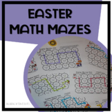 3 Easter Bunny Math Mazes - Addition, Multiplication, and