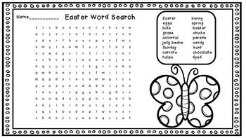 3 Easter Worksheets