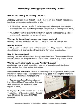Music Theory - 3 Effective Ways to Teach Students in their Own Learning Style