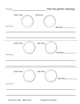 3 Elapsed Time Activities
