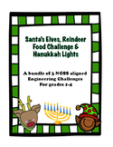 3 Engineering Challenge Bundle: Hanukkah Lights, Reindeer