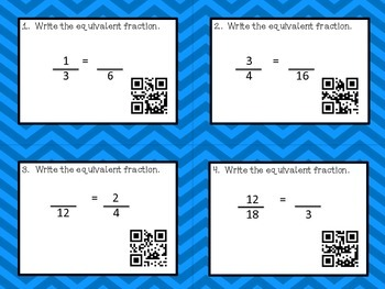 3 Equivalent Fraction Math Centers Common Core Aligned