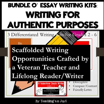 3 Expository Essay Bundle:  Holiday Themed Authentic Writing