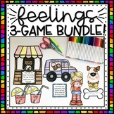 3 FEELINGS & EMOTIONS Scenarios Matching Games BUNDLE!