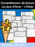 3 FICHES DE COMPRÉHENSION DE LA LECTURE-SPORTS - JEUX D'HIVER #2 FRENCH FSL