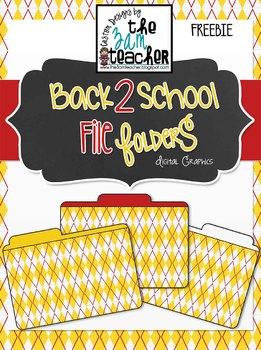 3 FREE File Folder Clip Art Images by The 3AM Teacher