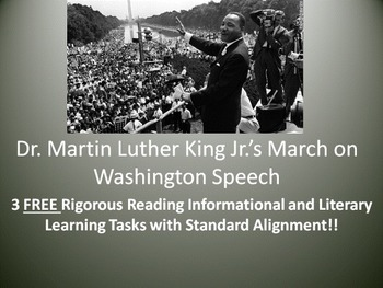 """3 FREE Learning Tasks for Dr. Martin Luther King Jr.'s """"I Have A Dream"""" Speech!"""
