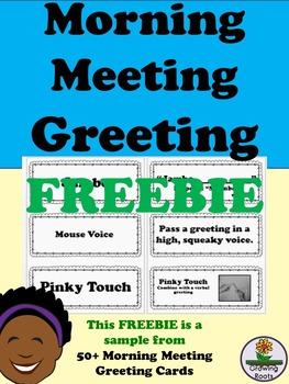 Morning Meeting Greeting Cards FREE