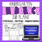 Emergency Sub Plans | Kindergarten | Google Distance Learning