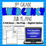 Emergency Sub Plans - Third Grade - Distance Learning