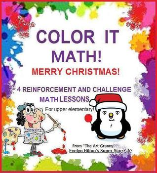 4 FUN CHRISTMAS MATH LESSONS FOR 3-5 GRADERS!  RIDDLES! PUZZLES!