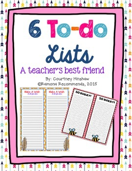 6 FUN To-do lists :)