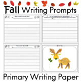 Fall Writing Prompts and Primary Writing Paper