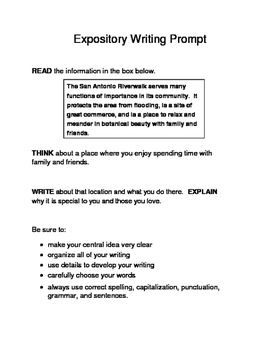 3 Famous Texas Landmarks Expository Writing Prompts STAAR 3rd 4th 5th SET B