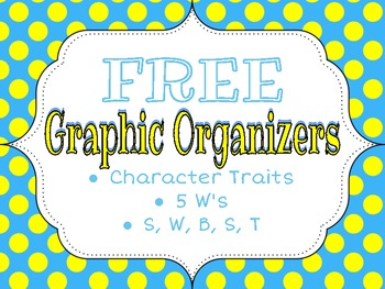 3 Fiction Reading Graphic Organizers