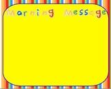 3 Flipchart Morning Message Templates for Promethean Board