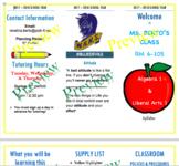 3 Fold Editable Brochure Syllabus