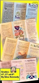 Six Trifold Book Reports to Use With Any Fiction Novels, Print and Go!