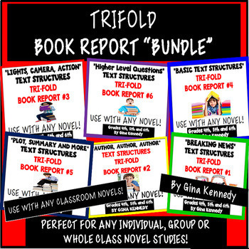 Six Trifold Book Reports to Use With Any Novels, Just Prin