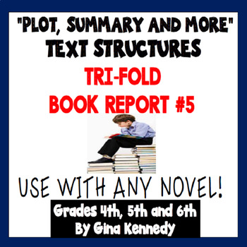 Trifold Fiction Book Report Project, #5 USE WITH ANY NOVEL
