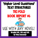 Trifold Fiction Book Report Project, #6 USE WITH ANY NOVEL