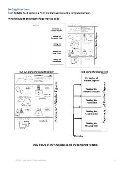 Similar Figures~Perimeter~Area~Volume~3 Foldable Bundle