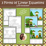 3 Forms of Linear Equations | Camping | Color-by-Number Worksheets
