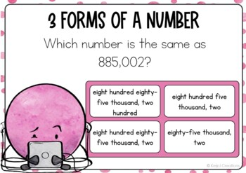 3 Forms of a Number Boom Cards