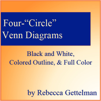 3 four circle venn diagrams color colored outline and black white ccuart Choice Image