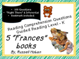"""Frances"" books - Comprehension Question Bundle - Level K - Russell Hoban"