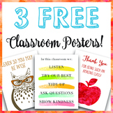 3 Free Classroom Posters!