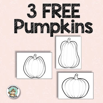 Pumpkin Freebie for Halloween and Fall Art Activites