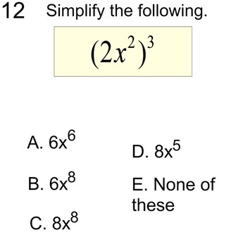 3 Free Socrative Math Quizzes Monomials, Venn & 2 Way Tables for SMART