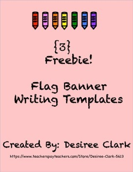 3 Freebie Flag Banner Writing Templates
